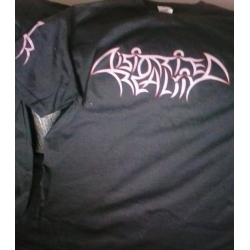 DISTORTED REALITY t-shirt, logo RED edging, L size